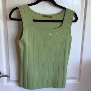 Beautiful light Green Knit with Rhinestones